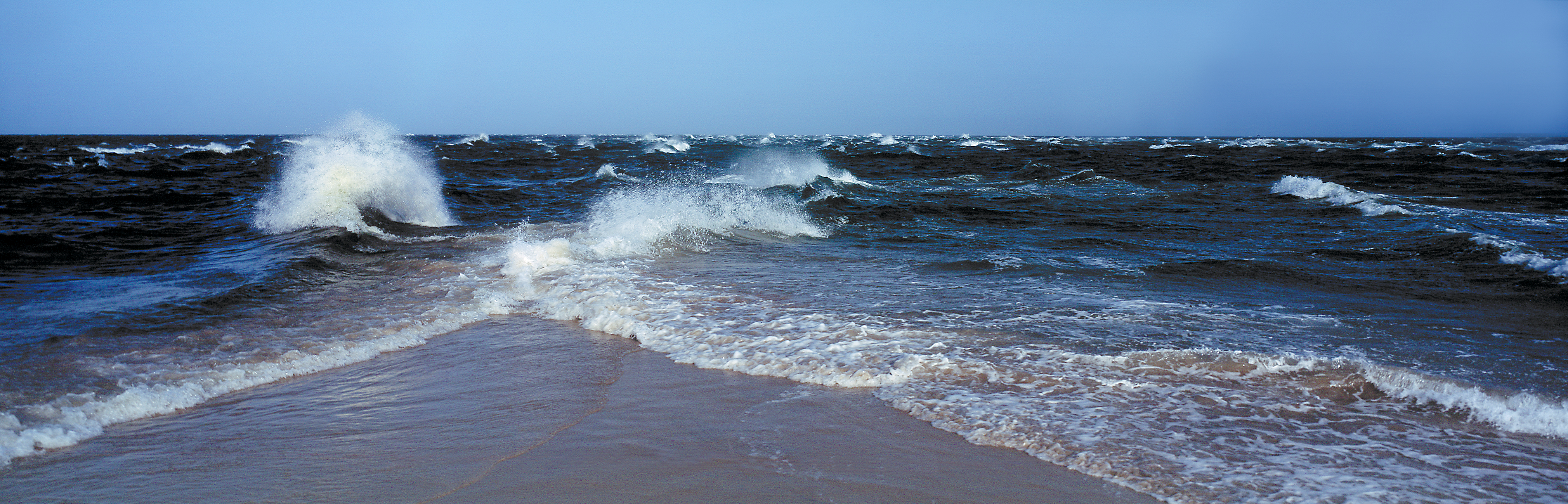 Baltic and North Seas meet at Skagen, Denmark. : pics