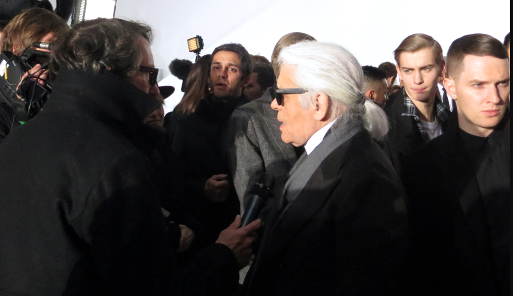 Karl Lagerfeld at Dior