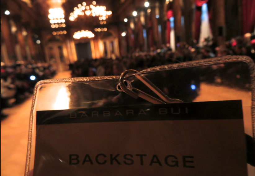 Barbara Bui backstage