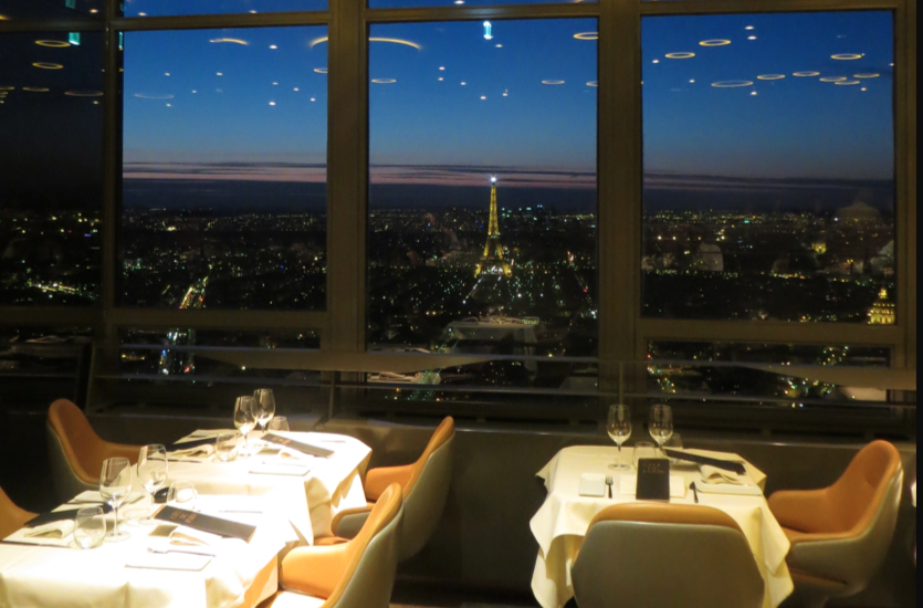 ciel de paris restaurant montparnasse with panoramic view