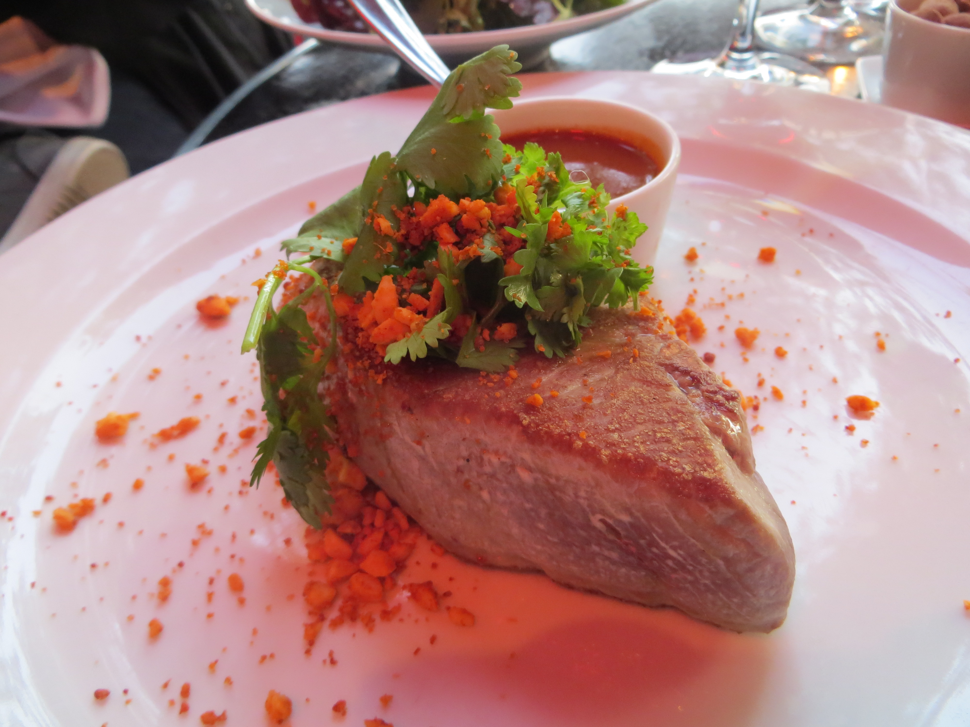 Tuna at Le Coq, A costes restaurant at Trocadero in Paris