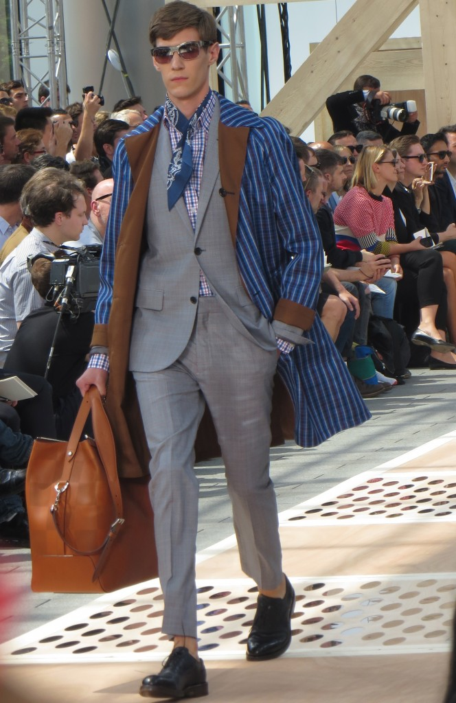 David Beckham at Louis Vuitton Mens Wear SS14 in Paris