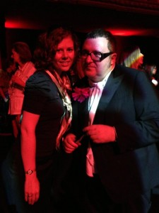 Julie Johansen and Alber Elbaz at Lanvin aftershow party in Paris