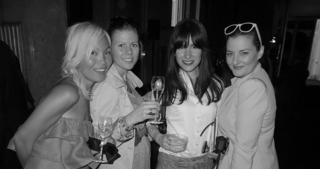 Versace Cocktail Party 2013, Leah McQueen, Julie Johansen, Evelyn & Shev