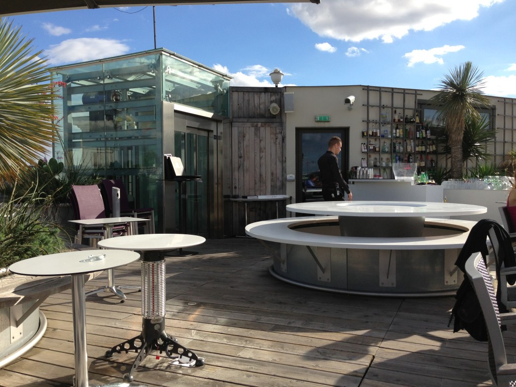 Holliday Inn roof terrace in Paris