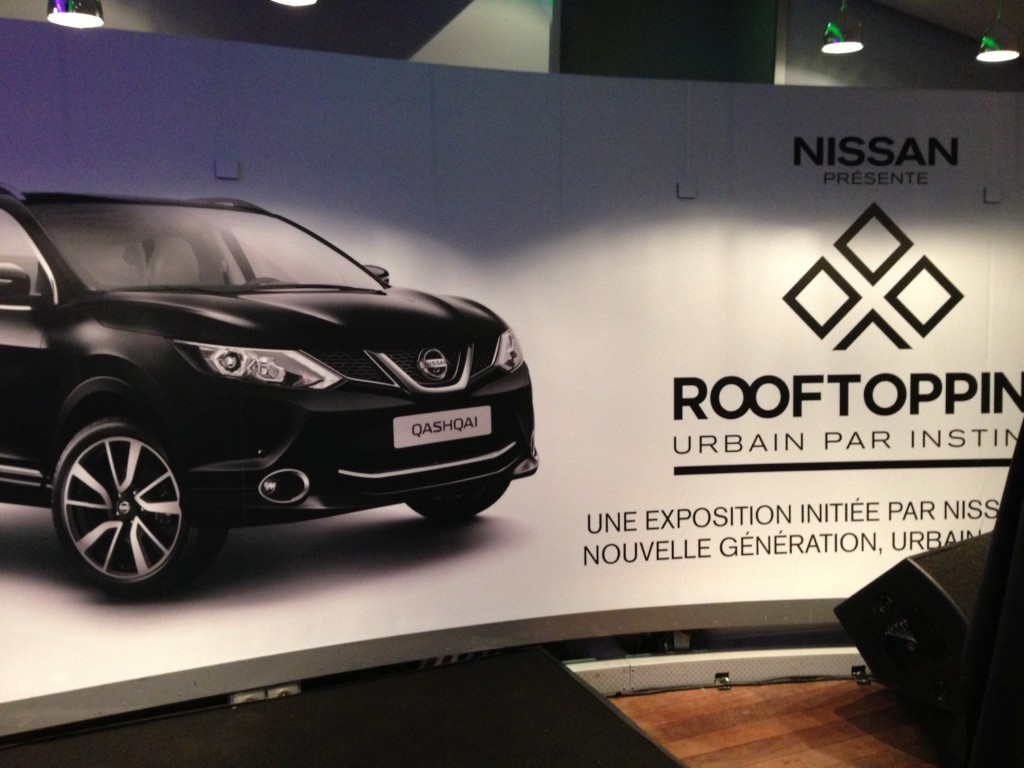 Nissan Rooftopping exhibition Paris
