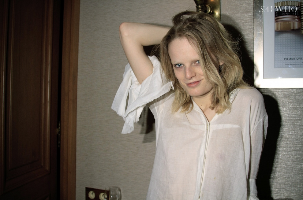 Hanne Gaby Odiele, the cover girl of A magazine curated by Iris van Herpen