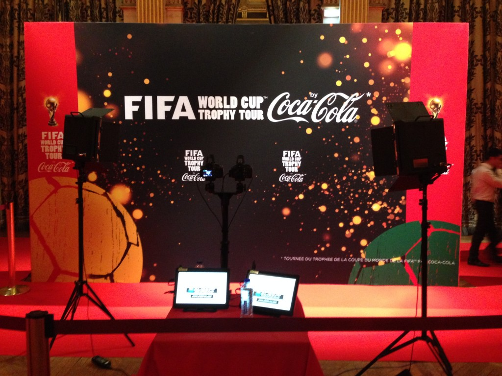 FIFA worldcup x coca cola event in Paris 2014