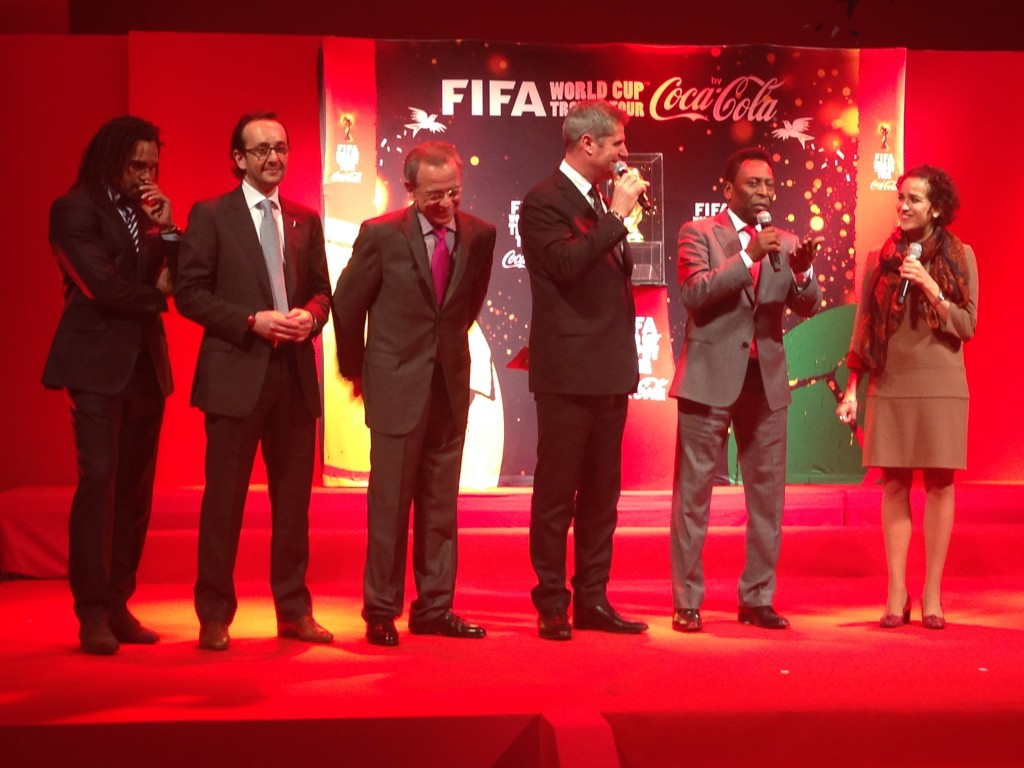 FIFA worldcup trophy tour 2014 by coca cola