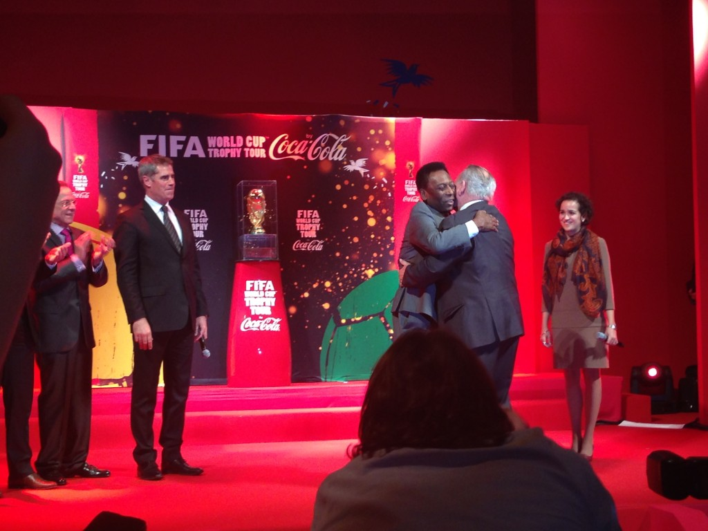 FIFA worldcup trophy tour by coca cola 2014
