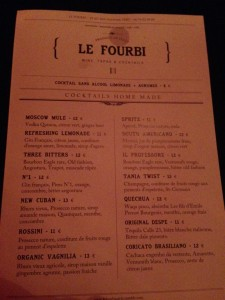 Le Fourbi, bio cocktail bar in Paris