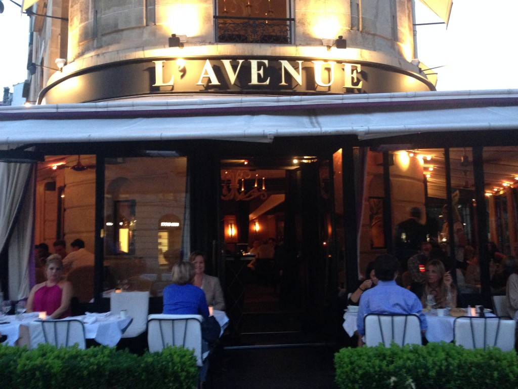 l´avenue restaurant paris