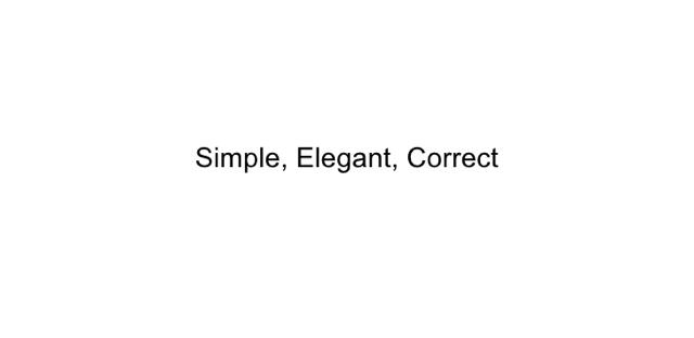 simple elegant correct