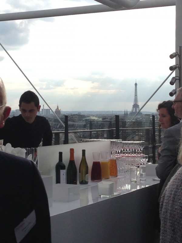 rooftop party at restaurant le George in Paris