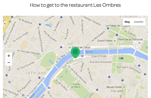 les ombres restaurant