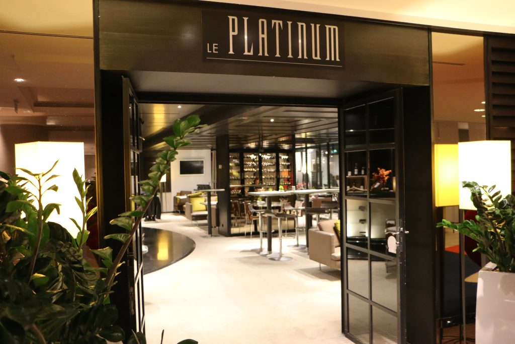 Le platinum restaurant Paris