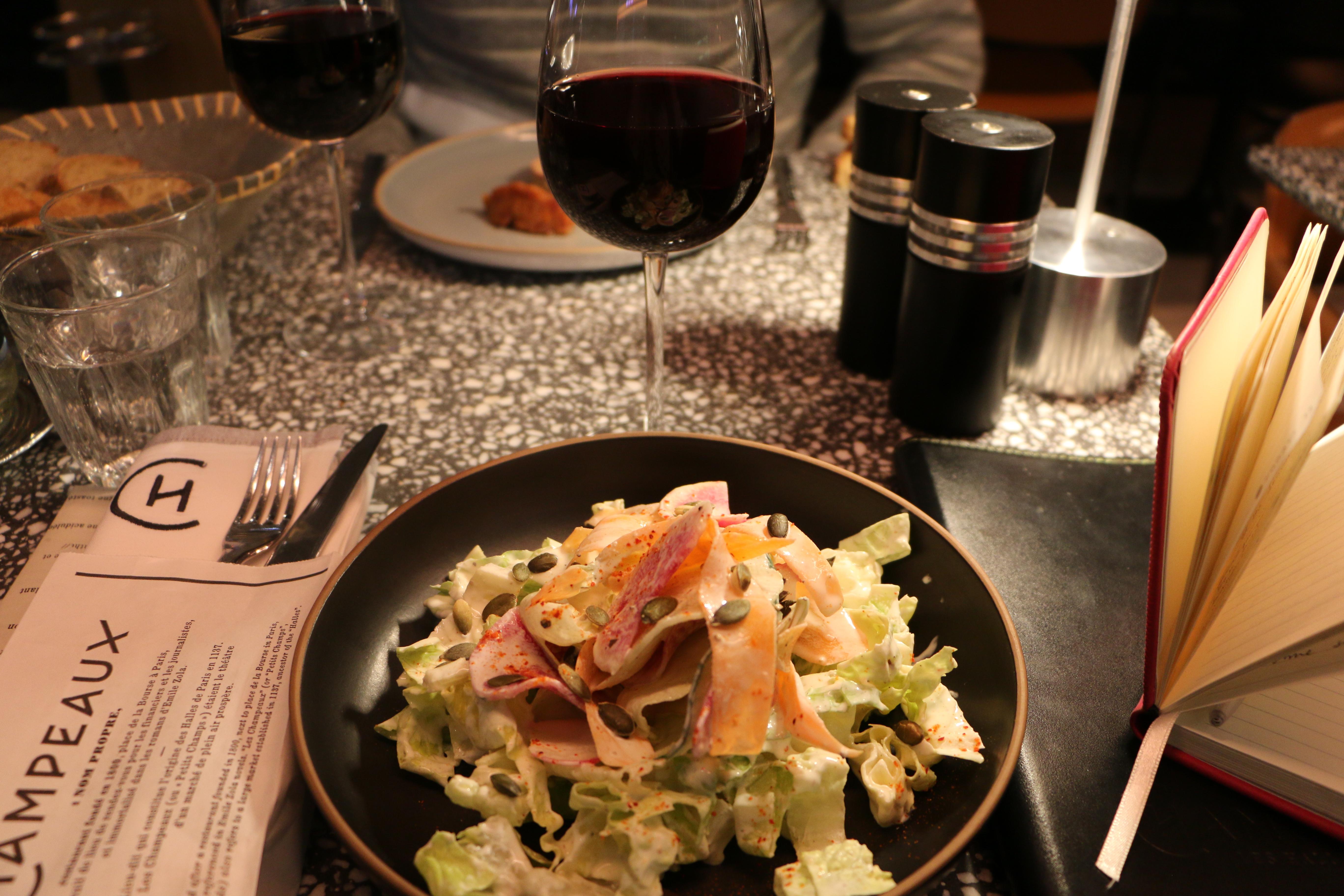 Champeaux Alain Ducasse restaurant in Paris