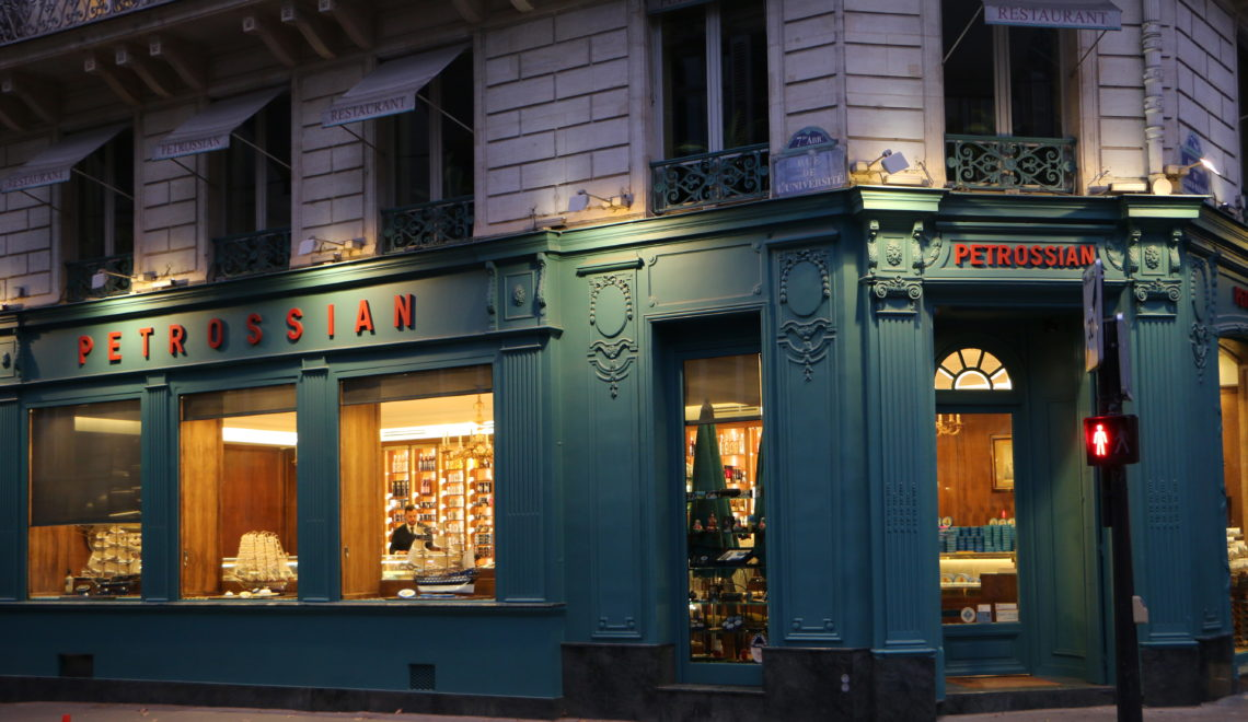 Petrossian caviar restaurant paris