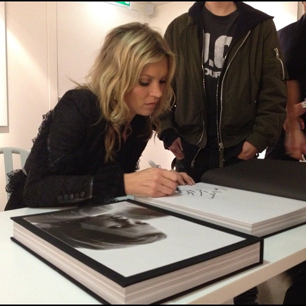 Kate Moss book signing at Colette Paris