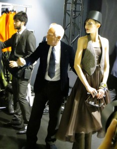 Backstage Giorgio Armani