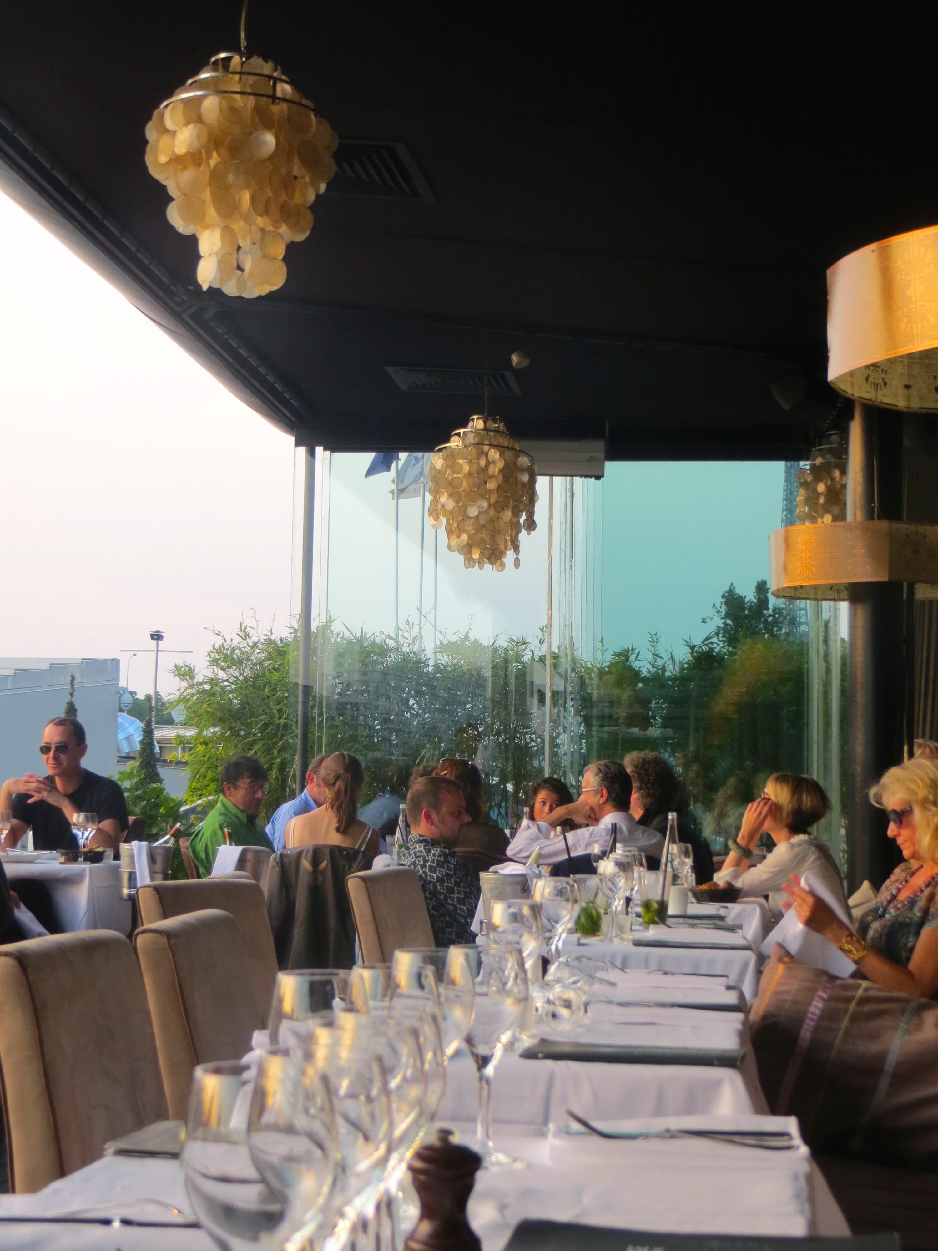14 july 2013 in Paris at La Plage Restaurant