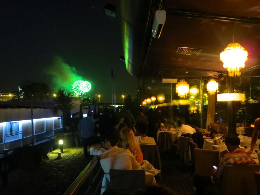 14 july in paris 2013 at La Plage restaurant 15 arrondissement