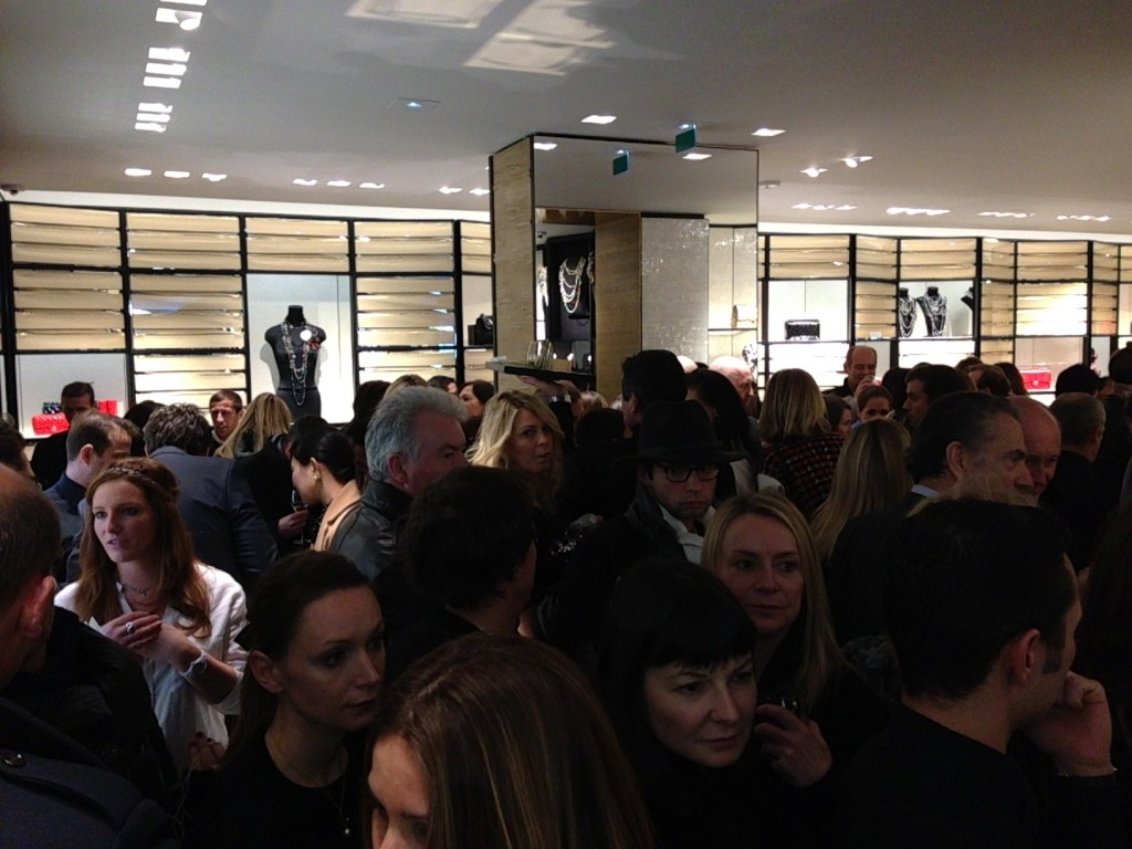 Chanel store opening Avenue Montagne