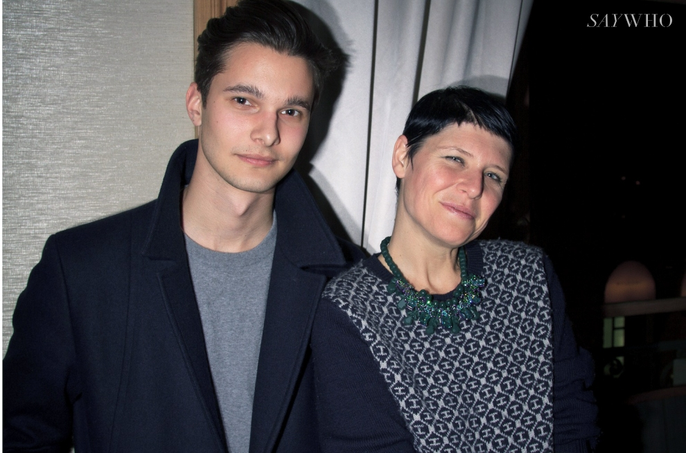 Dorian Grinspan, editor in chief at Out of Order magazine, and stylist Elisa Nalin
