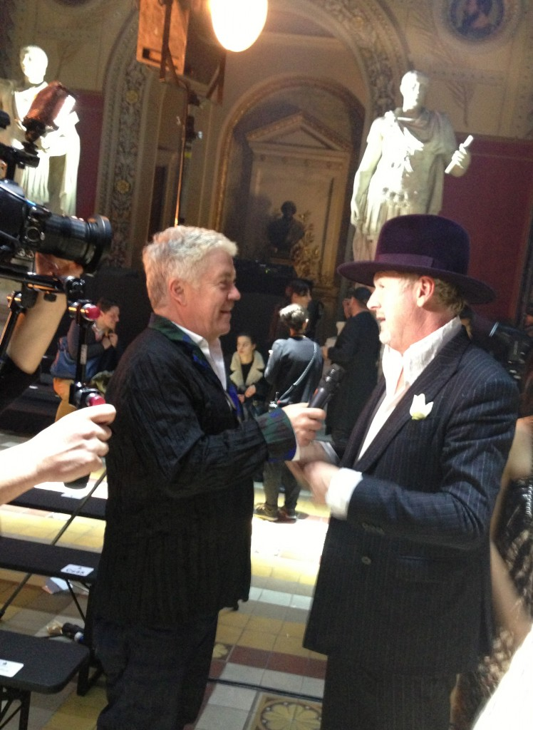 Tim Blanks and Godfrey Deeney at Lanvin