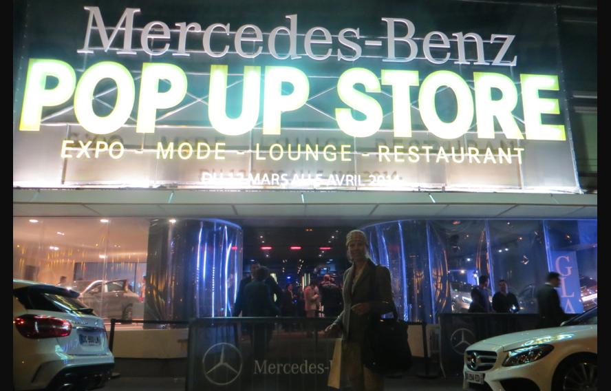 Mercedes benz pop up store
