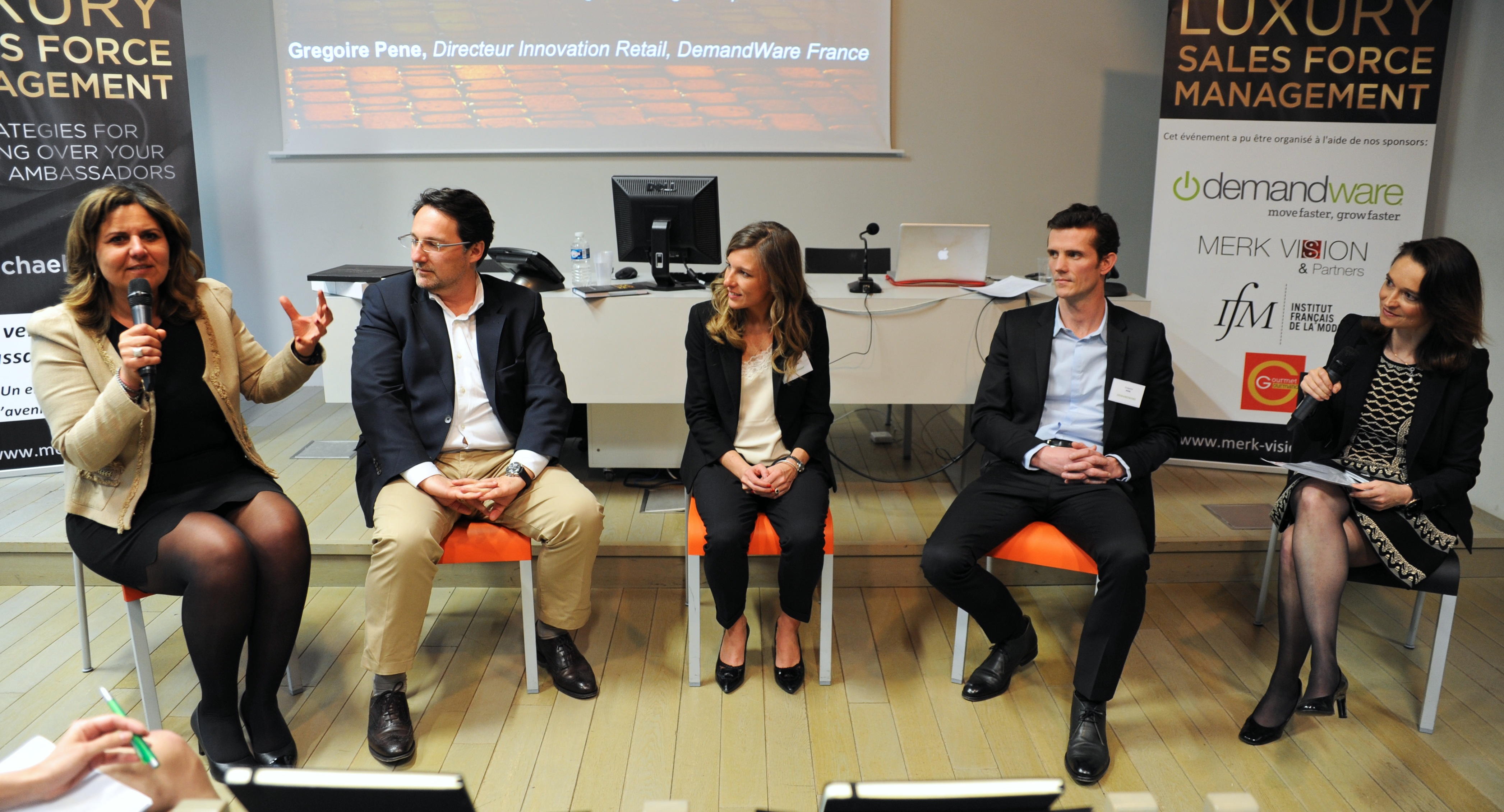 The panel - at the book launch.