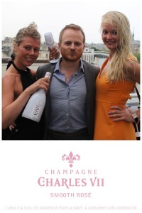 CHARLES VII Smooth Rosé champagne launch