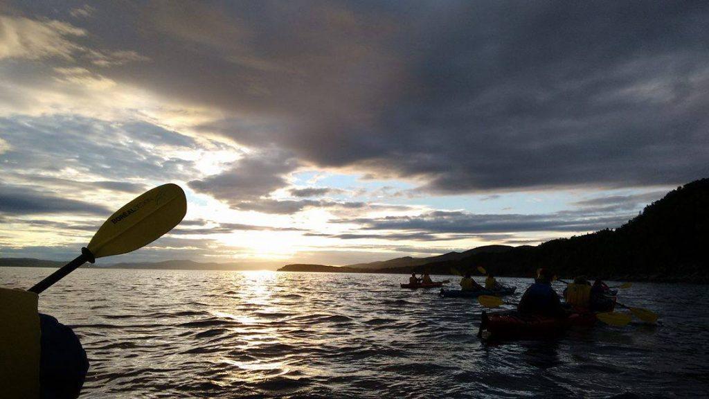 Kayak in Forillion National park - Quebec