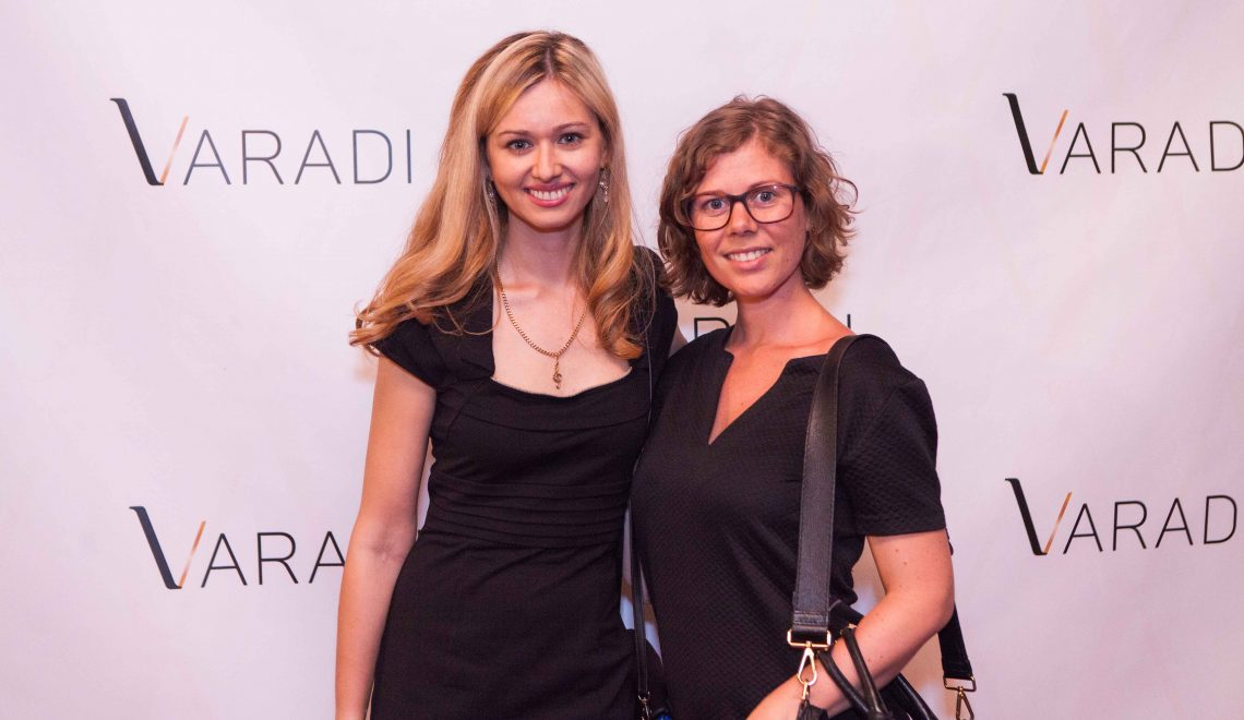 Founder of Varadi luxury shoes - Diana Balogh, and me