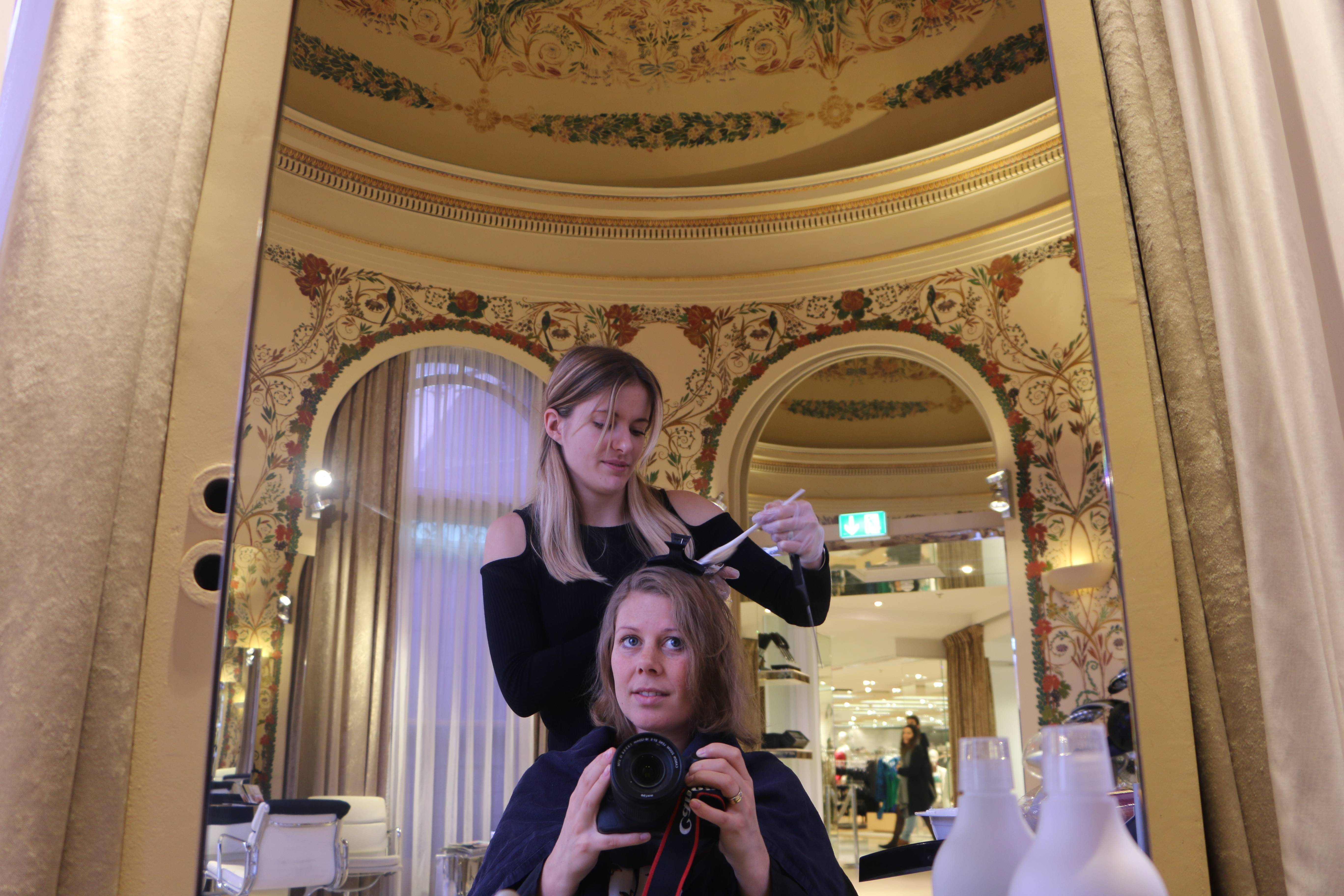 Coiffirst hairsalon at Printemps in Paris