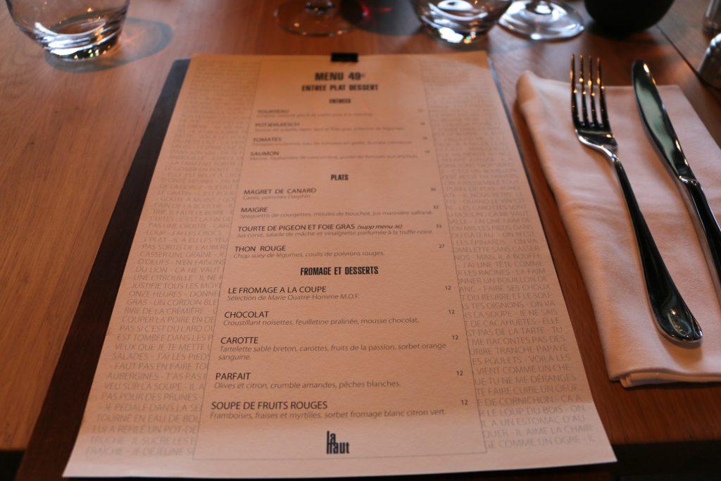 La Haut suresnes restaurant