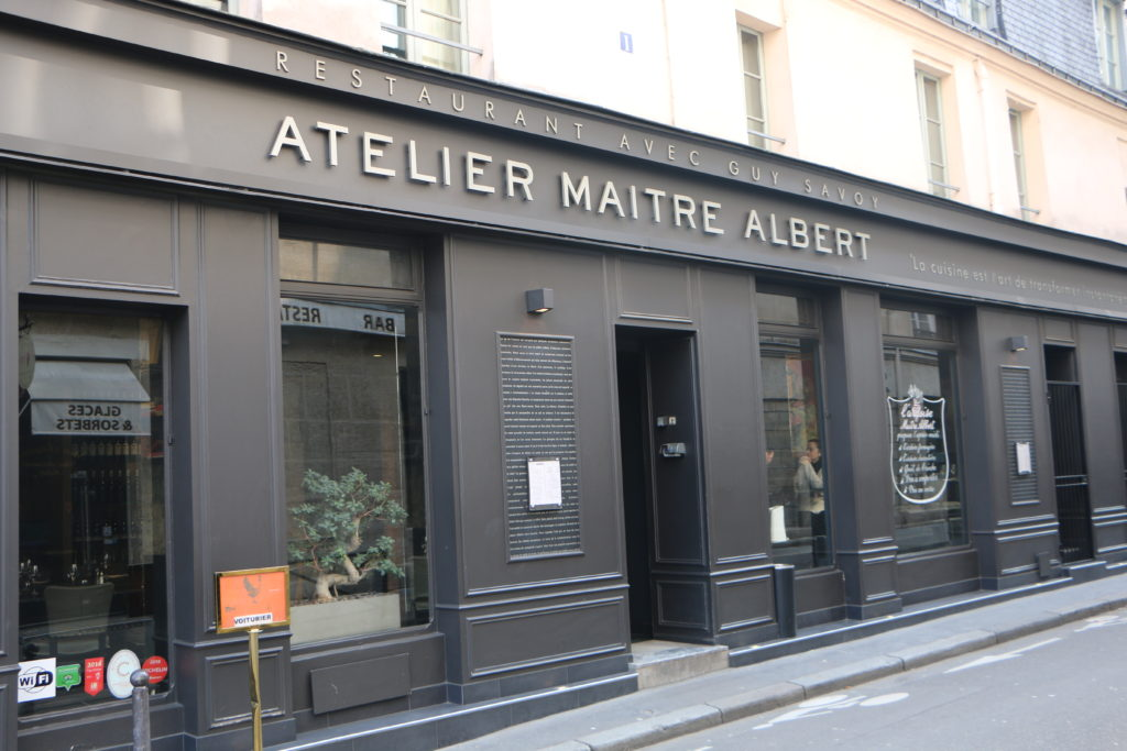 Atelier Maitre Albert restaurant Paris